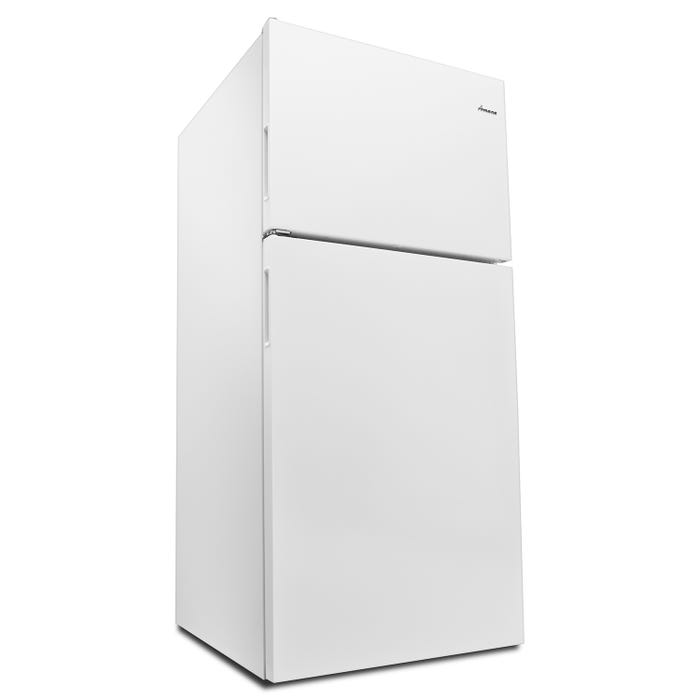 Amana 30 inch 18 cu. ft. top mount refrigerator in white ART318FFDW