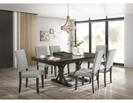 Cosmos Asbury Series 7pc Dining Set with Extending Leaf in Light Grey