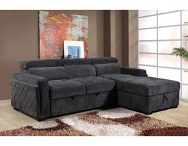 Flair Asheville Series Fabric Sectional in Grey