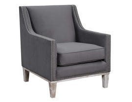 High Society Augusta Collection Accent Chair in Charcoal 798