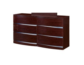 Global Furniture Aurora Big Dresser Wenge Wood Veneer