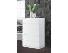 Global Furniture Aurora Chest White Wood Veneer