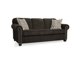 Décor-Rest Barbara Collection Fabric Sofa in Avert Espresso/Quatrefoil Cocoa 2756