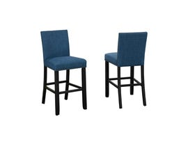 Brassex Avery Blue 29-inch Bar Stool (Set of 2)