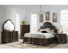 High Society Avery Collection 6PC King Bedroom Set in Espresso