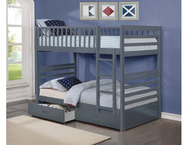 Twin bunk bed in grey B-110-G