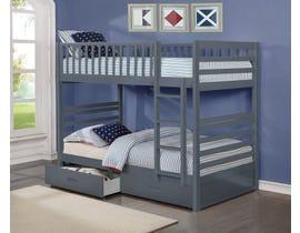 International Furniture twin bunk bed in grey B-110-G