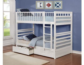 Twin bunk bed in white B-110-W