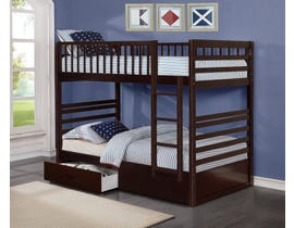International Furniture Twin Bunk Bed in Espresso B-110-E