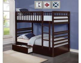 International Furniture twin bunk bed in espresso B-110-E