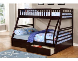 Wood Twin-Over-Full Storage Bunk Bed in Espresso B-117-E