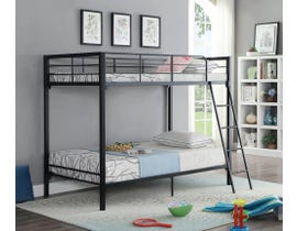 Twin Bunk Bed in Black B-530