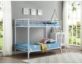 International furniture Twin Bunk Bed in White B-531