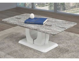 Brassex Walden Series Coffee Table in White B-901