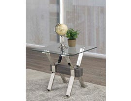 Brassex Ezra Series End Table in Grey B-902