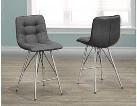 Chloe Series Fabric Bar Stool in Grey (Set of 2) B-987