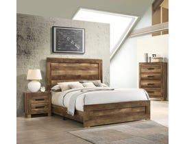 K Living Caliban Series Bed in Rustic Dark Brown B0901