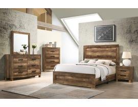 K Living Caliban Series Bedroom Set in Rustic Dark Brown B0901