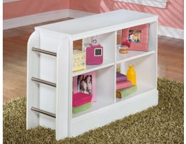 Signature Design by Ashley Lulu series youth white finish Loft Bookcase with Ladder B102