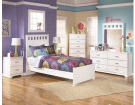 Signature Design by Ashley Lulu series youth white finish Two drawers nightstand B102