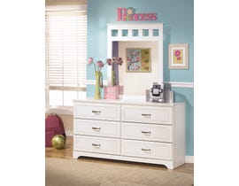 Signature Design by Ashley Lulu Youth Dresser and Mirror in White B102