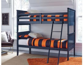 Signature Design by Ashley 3-Piece Twin over Twin Bunk Bed in blue B103B9