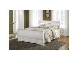 Signature Design by Ashley Queen Sleigh Bed in white B129B4