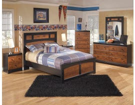 Signature Design by Ashley Full Panel Bed in two-tone warm brown B136B10