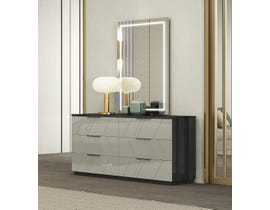 K Elite Travis Series Dresser in Grey Angley B157-DR