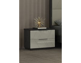 K Elite Travis Series Nightstand in Grey Angley B157-NS