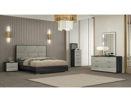 K Elite Travis Series Bedroom Set in Grey Angley B157