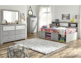 Signature Design by Ashley Arcella Bookcase Bedroom Set in Dove Grey B176