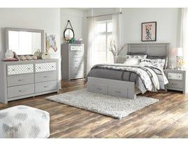Signature Design by Ashley Arcella Storage Bedroom Set in Dove Grey B176