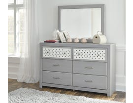 Signature Design by Ashley Arcella Dresser and Mirror in Dove Grey B176