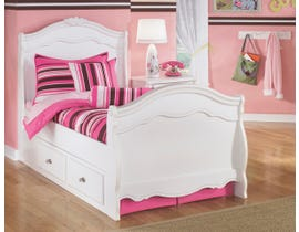Signature Design by Ashley Twin Sleigh Bed with Storage in White B188Y29
