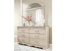 Signature Design by Ashley Catalina Dresser and Mirror in Antique Chestnut B196