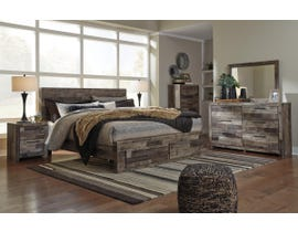 Signature Design by Ashley Derekson Collection 6PC King Storage Bedroom Set in Multi-Gray B200-31-36-46-58-56S-95-92