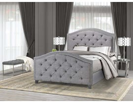 Brassex Queen Bed Frame Grey B2000Q-HB-GR