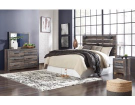 Signature Design by Ashley Drystan Collection Engineered Wood 6PC King Panel Bedroom Set in Multi B211-31-36-46-58-56-97-92
