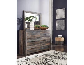 Signature Design by Ashley Drystan Collection Engineered Wood Dresser and Mirror in Multi B211-31-36