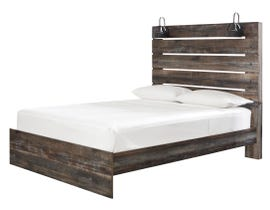 Signature Design by Ashley Drystan Collection Engineered Wood Queen Panel Bed in Multi B211-54-57-96