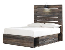 Signature Design by Ashley Drystan Collection Engineered Wood Full Panel Bed with Under Storage in Multi B211-87-86-84-50