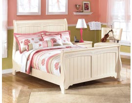 Signature Design by Ashley Full Sleigh Bed in Cream Cottage B213B16