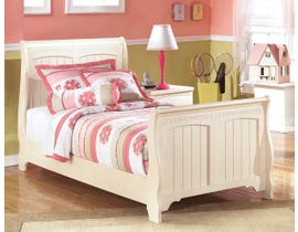 Signature Design by Ashley Twin Sleigh Bed in Cream Cottage B213B15