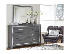 Signature Design by Ashley Dresser and Mirror in Gray B214B1