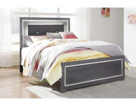 Signature Design by Ashley Queen Panel Bed with Storage in Gray B214B3