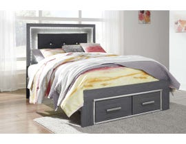 Signature Design by Ashley King Panel Bed with Storage in Gray B214B11