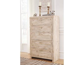 Signature Design by Ashley Benchcraft Collection 5 Drawers chest in Weathered Beige B215