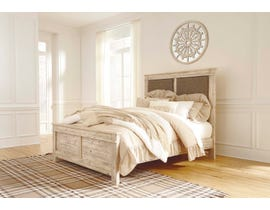 Signature Design by Ashley Benchcraft Collection Queen Panel Bed in Weathered Beige B215B2