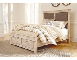 Signature Design by Ashley Benchcraft Queen Panel Bed with Storage Weathered Beige B215B4